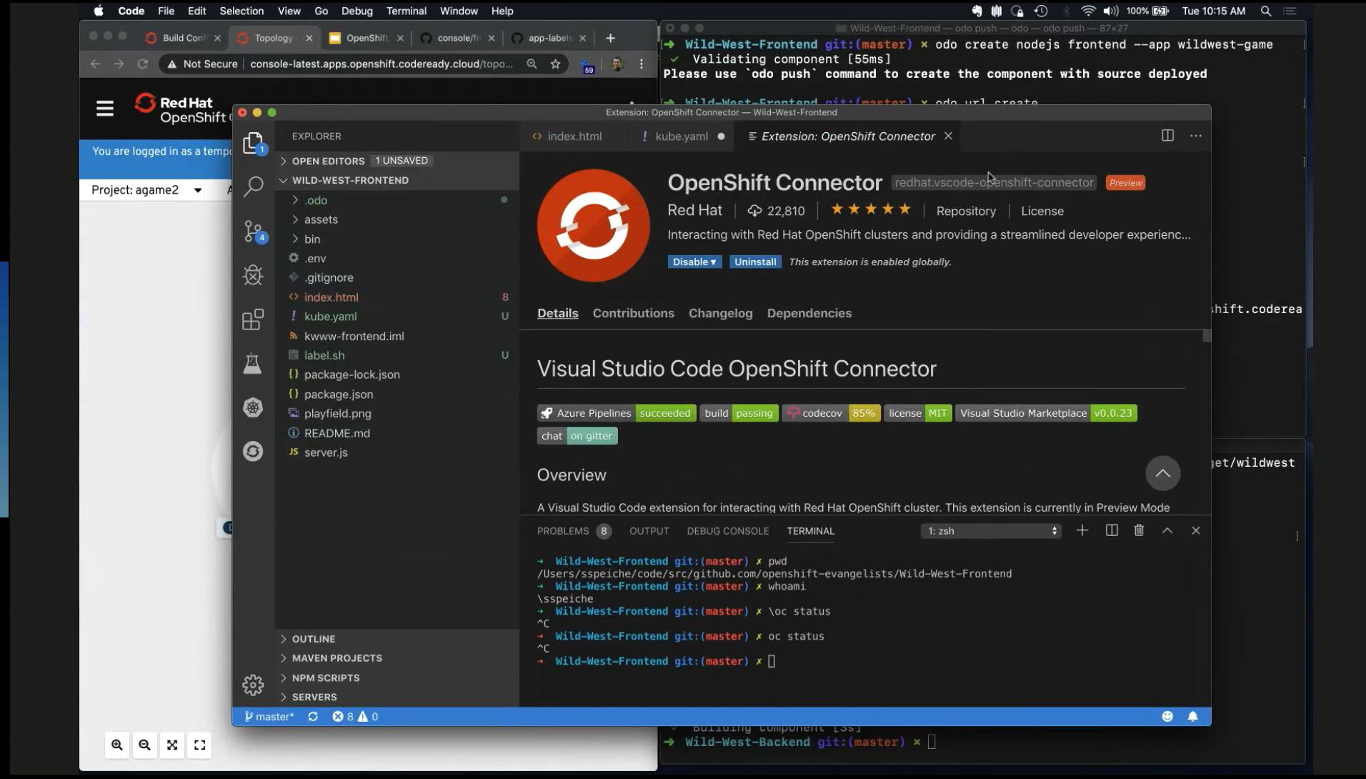 OpenShift for Developers - Part I: Open source tools - Open Virtualization